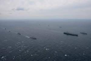 USS Reagan: Σε άσκηση στη Θάλασσα της Ιαπωνίας συμμετείχε το αμερικανικό αεροπλανοφόρο