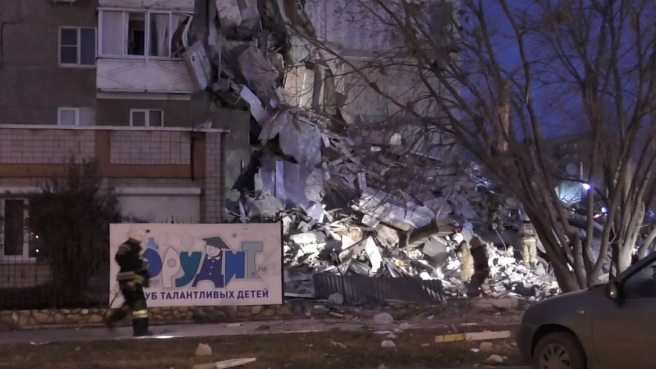 Ρωσία: Κατάρρευση εννιαόροφου κτιρίου - Νεκροί και τραυματίες (vid)