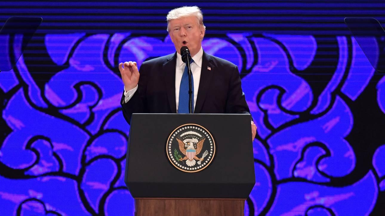 Τραμπ: Η Ασία να μην είναι όμηρος στις διεστραμμένες φαντασίες ενός δικτάτορα