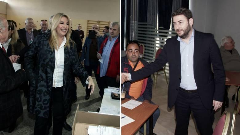 Εκλογές Κεντροαριστεράς: Θρίαμβος Γεννηματά, δεύτερος ο Ανδρουλάκης