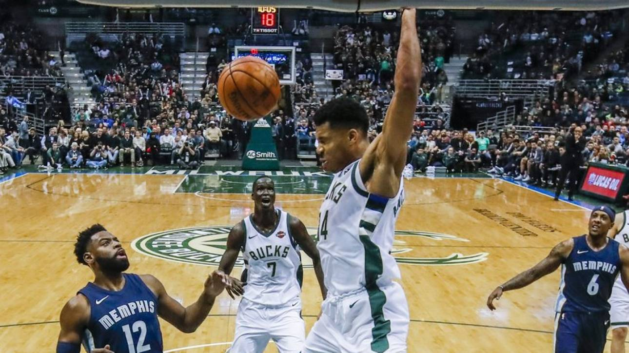NBA: 3η σερί νίκη οι Bucks με all-around Γιάννη Αντετοκούνμπο (vids)