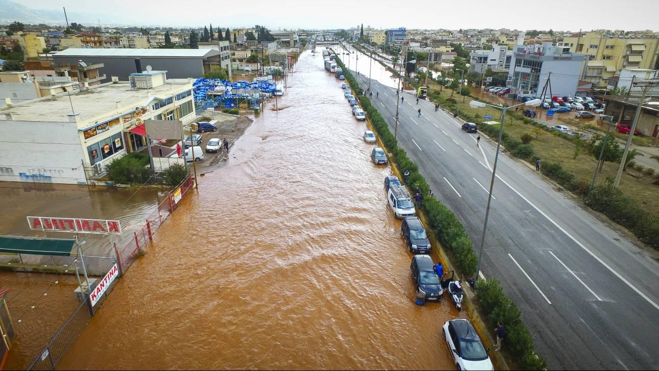 Κακοκαιρία: Σε κατάσταση έκτακτης ανάγκης Μάνδρα, Μέγαρα και Νέα Πέραμος