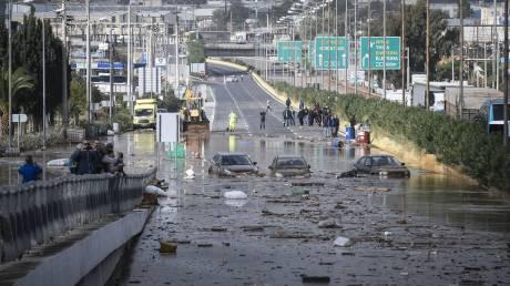 Κακοκαιρία: Εικόνες από την μεγάλη καταστροφή στην Αττική