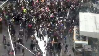 Βρυξέλλες: Βίαιες συγκρούσεις μεταξύ αστυνομίας και εκατοντάδων νέων