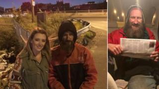 Μάθημα ανθρωπιάς από έναν άστεγο: Έδωσε τα τελευταία του χρήματα για να βοηθήσει μία άγνωστη