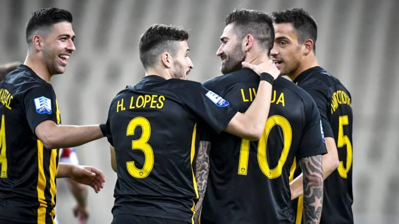 Super League: Κορυφή με νίκη επί του Πλατανιά η ΑΕΚ του Λιβάγια