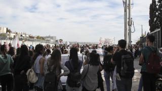 Επεισόδια στη διαμαρτυρία των φοιτητών έξω από το υπουργείο Παιδείας