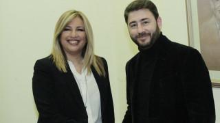 Συνάντηση Γεννηματά - Ανδρουλάκη στη Χαριλάου Τρικούπη