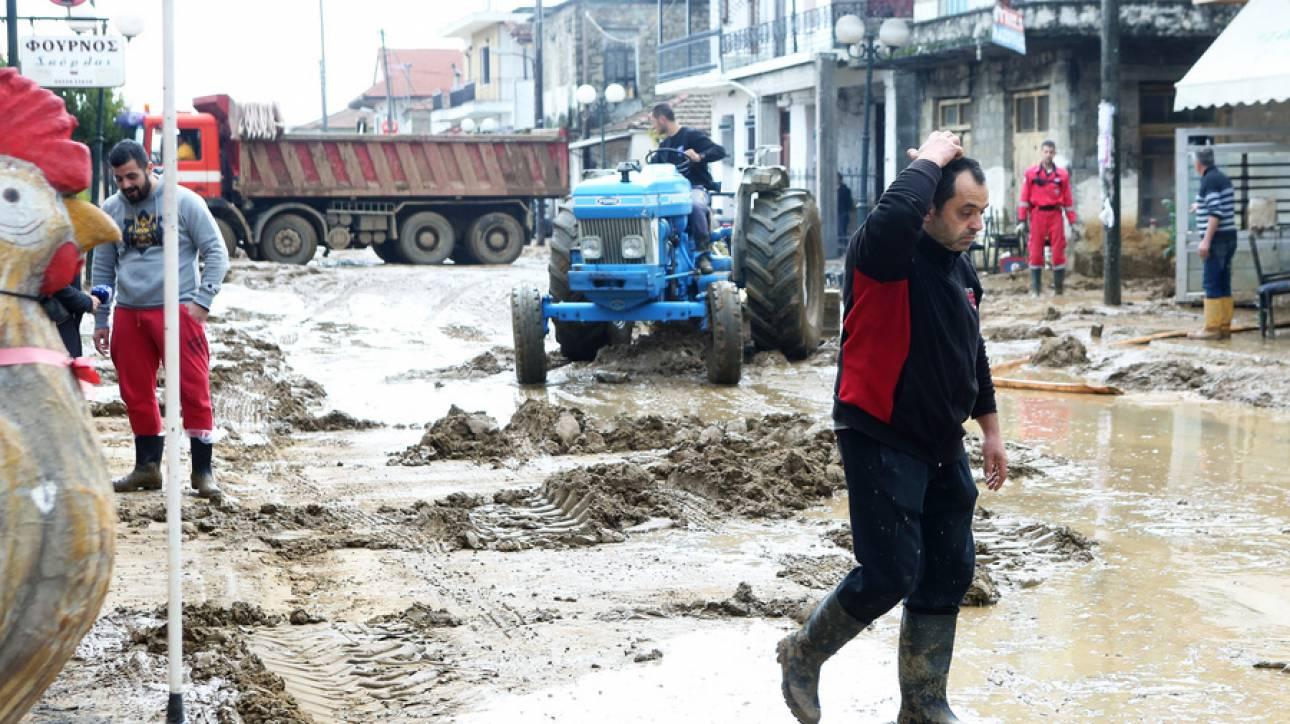 Στις πληγείσες περιοχές της Αιτωλοακαρνανίας ο Πάνος Σκουρλέτης