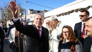 Έφτασε στην Κομοτηνή ο Ταγίπ Ερντογάν