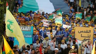 Στους δρόμους της Βηρυτού υποστηρικτές της Χεζμπολάχ για την Ιερουσαλήμ (pics)