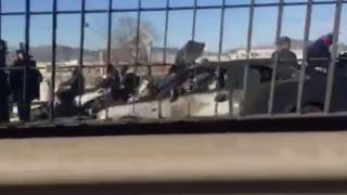 Αυτοκίνητο τυλίχθηκε στις φλόγες στην γέφυρα Ροσινιόλ (vid)