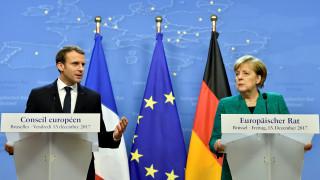 Σύνοδος Κορυφής ΕΕ: Κοινή στάση Μέρκελ – Μακρόν για το μεταναστευτικό