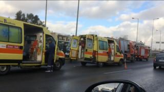 Τροχαίο στην Εθνική Οδό Αθηνών - Λαμίας (pics&vid)