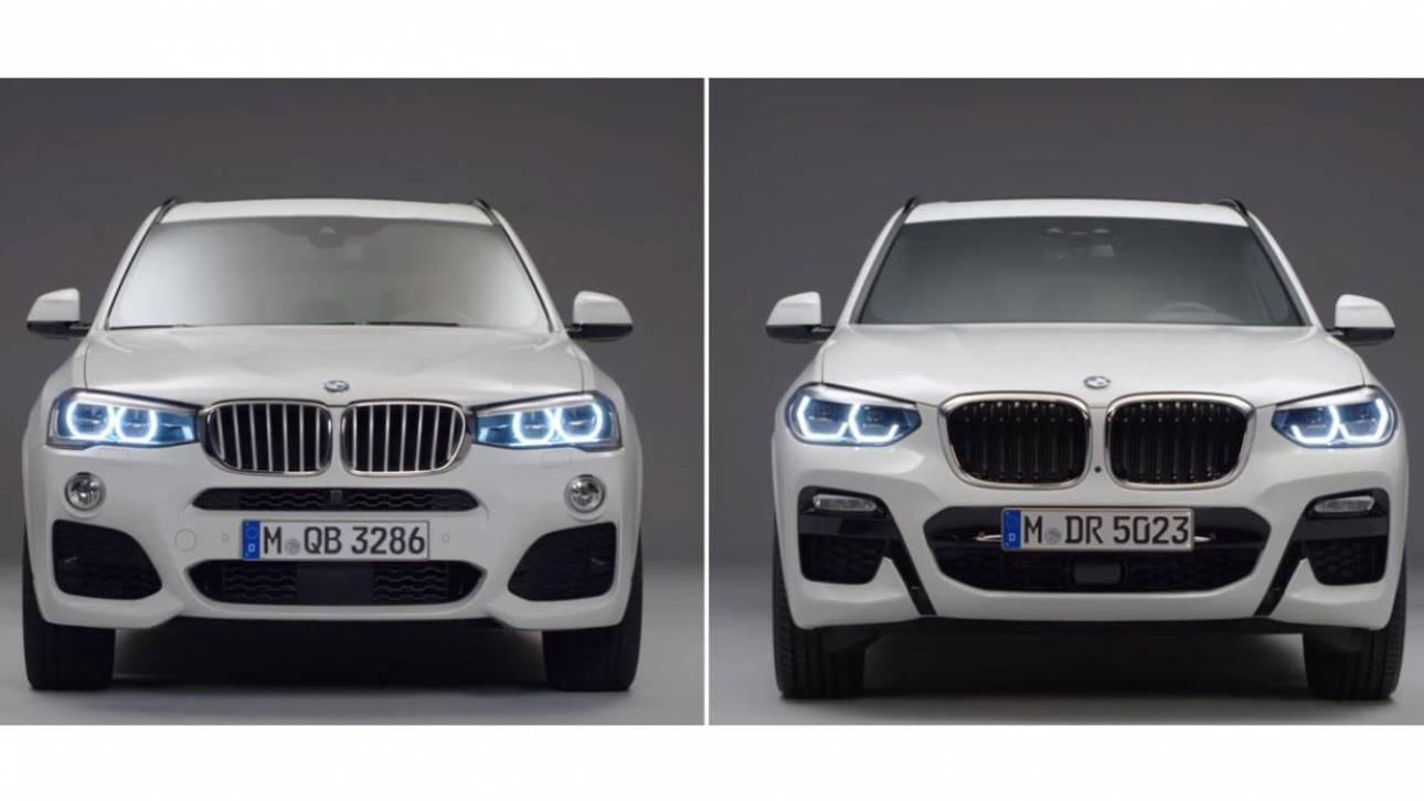 Αυτοκίνητο: BMW X3, δείτε τις διαφορές που υπάρχουν μεταξύ της προηγούμενης και της νέας γενιάς