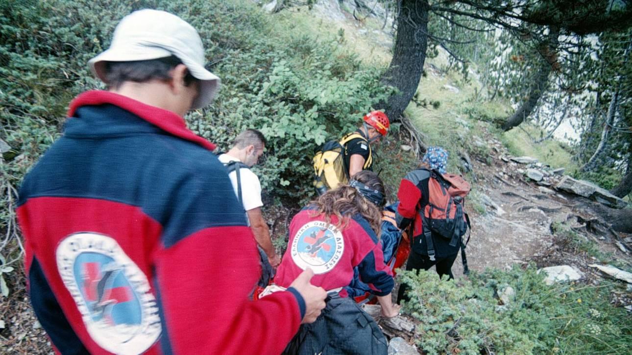 Βίντεο από την επιχείρηση διάσωσης δύο ορειβατών στον Όλυμπο
