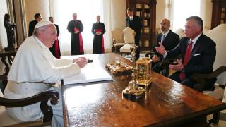 Συνάντηση του Πάπα με τον βασιλιά της Ιορδανίας στο Βατικανό (pics)