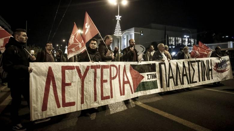 Πορεία διαμαρτυρίας Παλαιστινίων στο κέντρο της Θεσσαλονίκης (pics&vid)