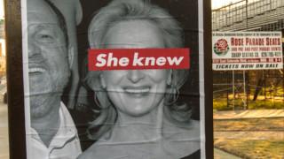 Ήξερε: street artist καταγγέλει τη σιωπηλή συνένοχο του Γουάινστιν Μέριλ Στριπ