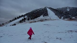 Σλάλομ στο χιονοδρομικό κέντρο Μαινάλου