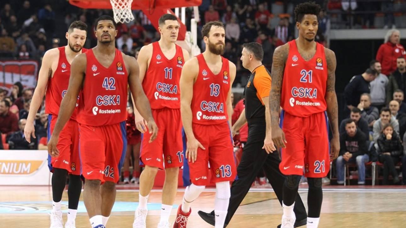Euroleague: Μόνη πρώτη η ΤΣΣΚΑ Μόσχας στο φινάλε του πρώτου γύρου