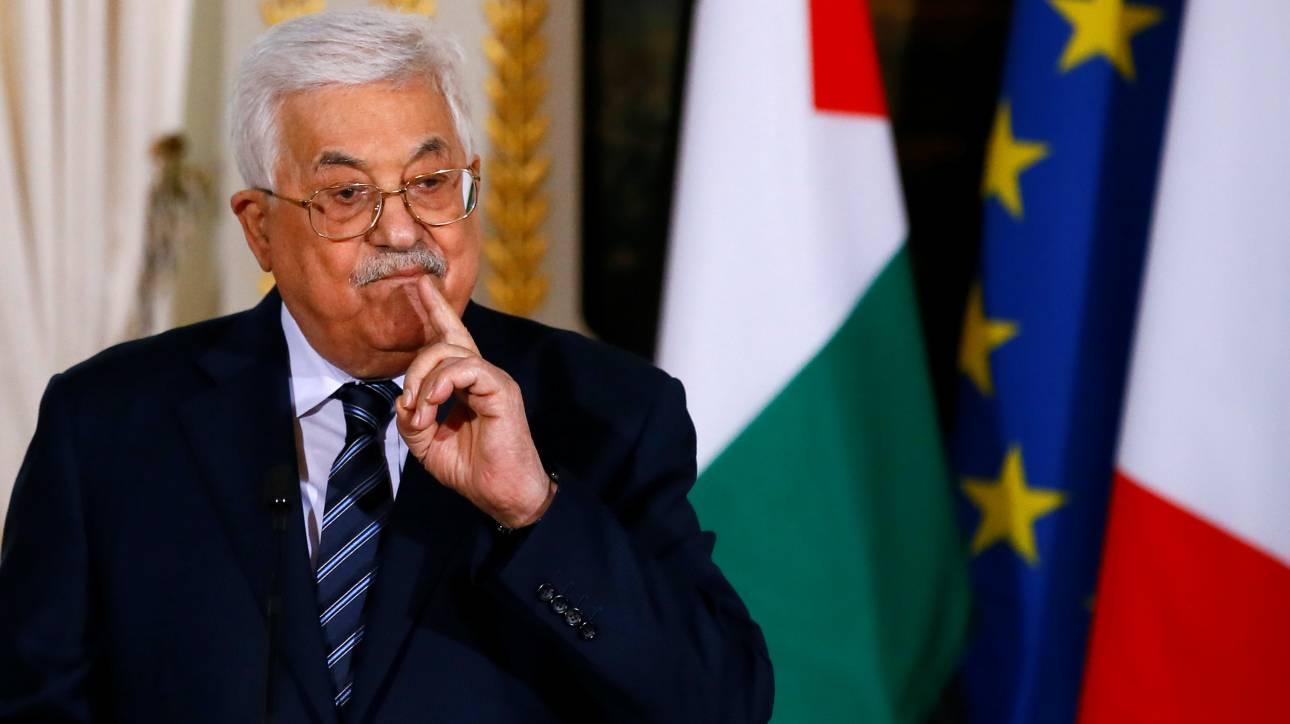 Ο Αμπάς καταγγέλλει το ψήφισμα του Λικούντ για την προσάρτηση της Δυτικής Όχθης