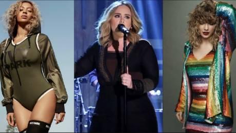 Ποιες είναι οι υψηλότερα αμειβόμενες τραγουδίστριες (infographic)