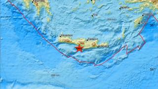 Σεισμός 4,1 Ρίχτερ νότια της Κρήτης