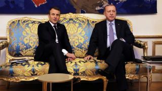 «Διαξιφισμοί» Μακρόν-Ερντογάν στο Παρίσι