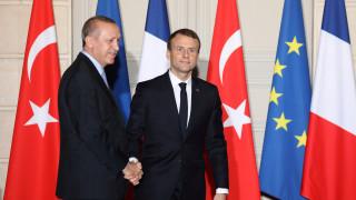 Τι συζήτησαν Μακρόν - Ερντογάν στη συνάντησή τους (pics)