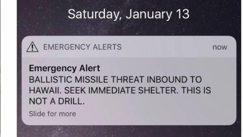 Εσφαλμένος συναγερμός στη Χαβάη για επικείμενη επίθεση βαλλιστικού πυραύλου