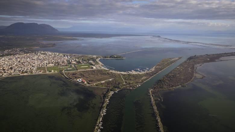 Μεσολόγγι: Η εντυπωσιακή λιμνοθάλασσα από ψηλά