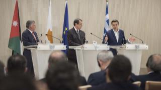Τσίπρας: Ελλάδα, Κύπρος και Ιορδανία πυλώνες σταθερότητας, ειρήνης και ασφάλειας