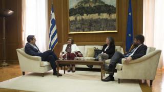 Με τη Μεγαλοοικονόμου συναντήθηκε ο πρωθυπουργός