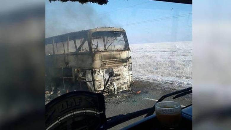 Καζακστάν: 52 επιβάτες λεωφορείου κάηκαν ζωντανοί (pic+vid)