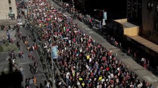 Χιλιάδες κόσμου στην «Πορεία των Γυναικών» στη Νέα Υόρκη