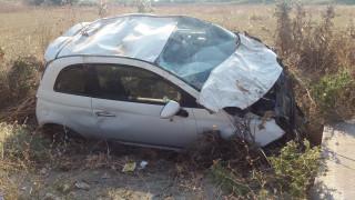 Τροχαίο στη Λάρισα: Πέρασε πάνω από φορτηγό και ισοπέδωσε τα πάντα