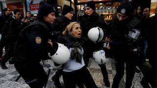 Χρήση σπρέι πιπεριού από τις Αρχές εναντίον φιλοκούρδων διαδηλωτών στην Άγκυρα
