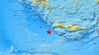 Σεισμός 4,4 Ρίχτερ νοτιοδυτικά της Κρήτης