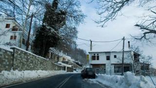 Πήλιο: Λευκό τοπίο και θερμοκρασίες που φτάνουν το -5