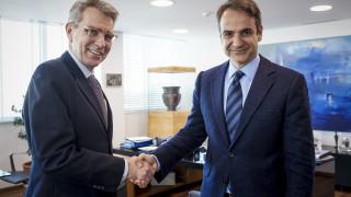 Συνάντηση Κ. Μητσοτάκη με τον Αμερικανό πρέσβη στην Αθήνα Τζέφρι Πάιατ
