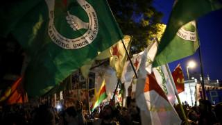 Αντιφασιστική πορεία στο κέντρο της Αθήνας