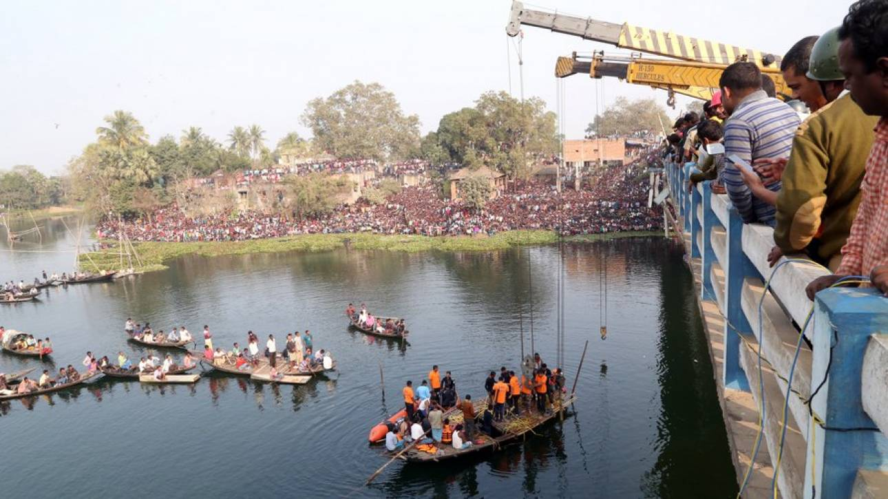 Ινδία: Λεωφορείο έπεσε σε κανάλι – Δεκάδες νεκροί