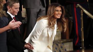 Η Μελάνια Τραμπ παρούσα στην ομιλία του Τραμπ παρά τις φήμες περί συζυγικών προβλημάτων