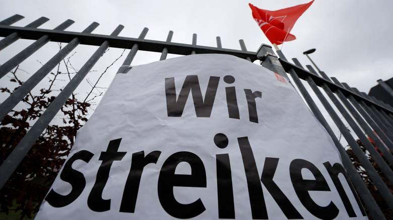 Γερμανία: Ξεκίνησαν 24ωρες απεργιακές κινητοποιήσεις στον κλάδο μετάλλου και ηλεκτρισμού