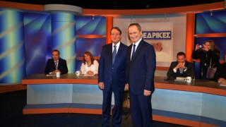 Κύπρος: Έντονη αντιπαράθεση και ηχηρό μήνυμα ενότητας στο ντιμπέιτ Αναστασιάδη-Μαλά