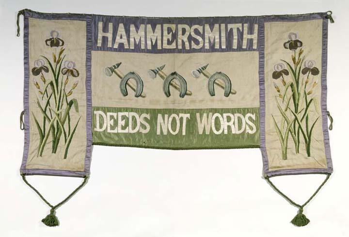 Suffragette Banner Musuem of London