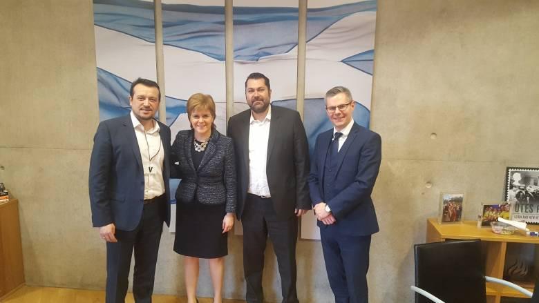Επαφές Παππά με στελέχη της κυβέρνησης της Σκωτίας