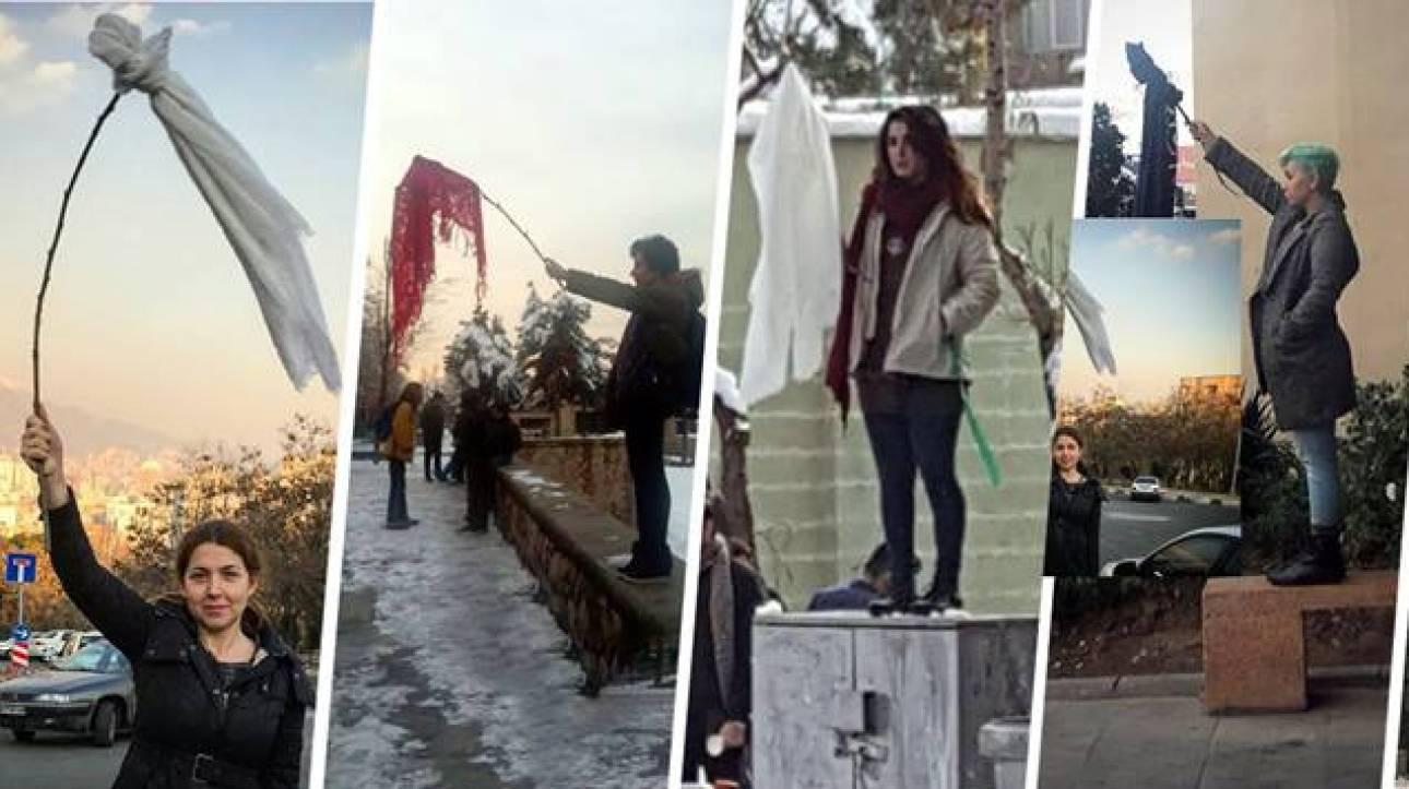 Τεχεράνη: Δεκάδες γυναίκες έβγαλαν τη μαντίλα τους δημοσίως και συνελήφθησαν