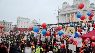 Στους δρόμους χιλιάδες Φινλανδοί κατά των περικοπών στα επιδόματα ανεργίας